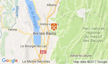 Kaart Aix Les Bains Vakantiehuis 110883