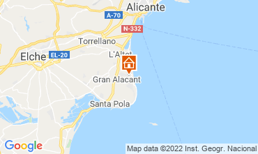 Kaart Santa Pola Appartement 82118