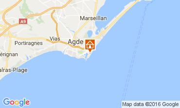 Kaart Cap d'Agde Appartement 6171