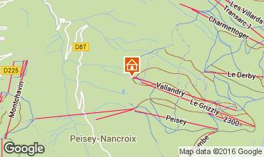 Kaart Peisey-Vallandry Studio 4747
