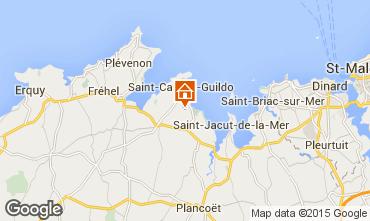 Kaart Saint Cast Le Guildo Huis 77947
