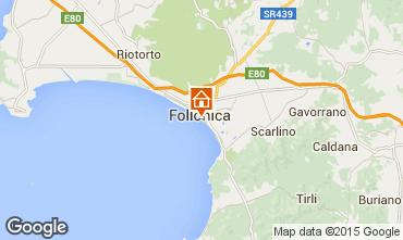 Kaart Follonica Appartement 80760