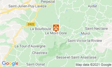 Kaart Le Mont Dore Appartement 77814