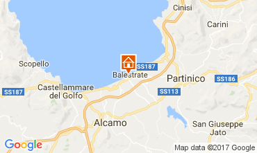 Kaart Balestrate Appartement 106370