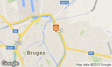 Kaart Brugge Vakantiehuis 90998