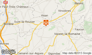 Kaart Vaison la Romaine Huis 89618