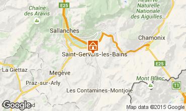 Kaart Saint Gervais Mont-Blanc Appartement 90703