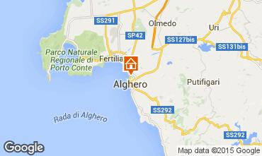 Kaart Alghero Appartement 84156