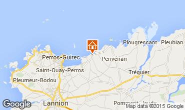 Kaart Perros-Guirec Vakantiehuis 83929