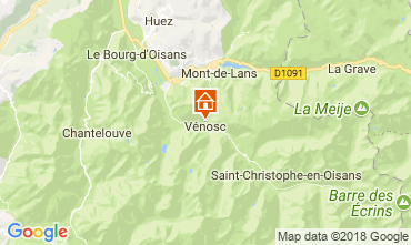 Kaart Les 2 Alpes Appartement 59663