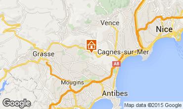 Kaart Roquefort-les-Pins Vakantiehuis 83734
