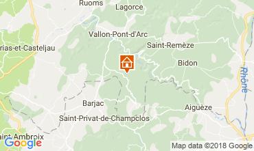 Kaart Labastide de Virac Villa 116056