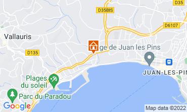 Kaart Juan les Pins Studio 47153