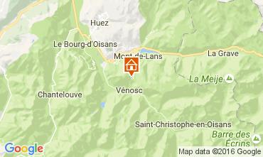 Kaart Les 2 Alpes Appartement 28328