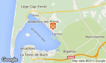 Kaart Andernos les Bains Vakantiehuis 80951