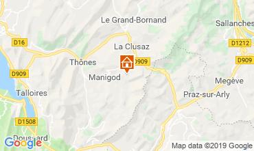Kaart Manigod-Croix Fry/L'étale-Merdassier Appartement 116760