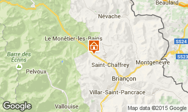 Kaart Serre Chevalier Chalet 15369