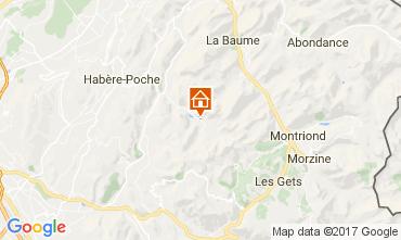 Kaart Bellevaux Hirmentaz La Chèvrerie Appartement 102046