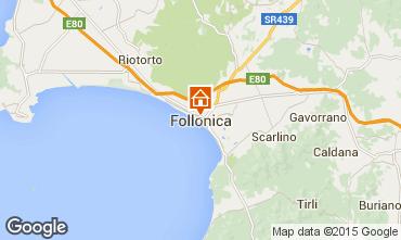 Kaart Follonica Appartement 80818