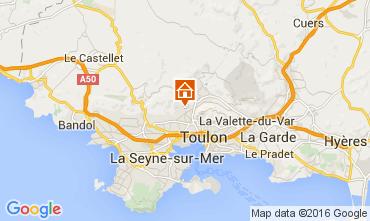 Kaart Toulon Vakantiehuis 79569