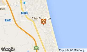 Kaart Alba Adriatica Appartement 64221