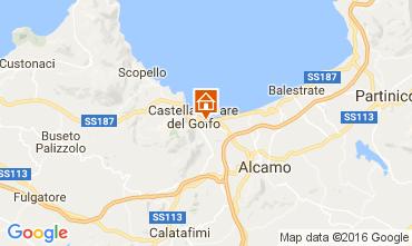 Kaart Castellammare del Golfo Huis 67481