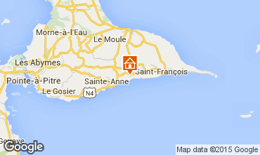 Kaart Sainte Anne(Guadeloupe) Vakantiehuis 60311
