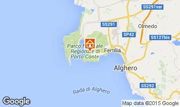 Kaart Alghero Appartement 78936