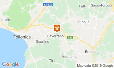 Kaart Gavorrano Vakantiehuis 80622