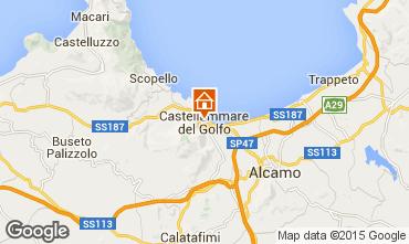 Kaart Castellammare del Golfo Appartement 49143
