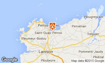 Kaart Perros-Guirec Stacaravan 7433