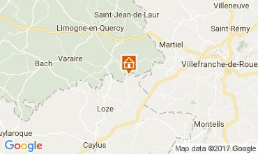 Kaart Saint-Cirq-Lapopie Vakantiehuis 51135