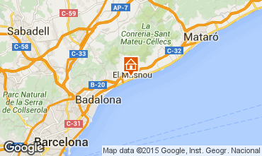 Kaart Barcelona Huis 44076