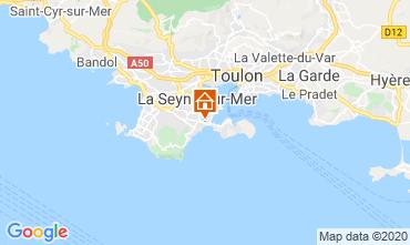 Kaart La Seyne sur Mer Vakantiehuis 113184