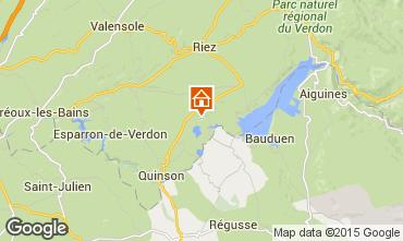 Kaart Sainte-Croix-du-Verdon Appartement 83052