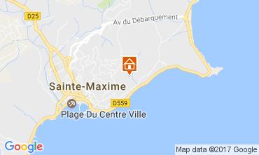Kaart Sainte Maxime Villa 108708