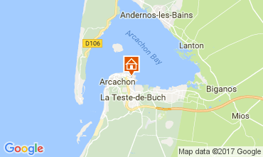 Kaart Arcachon Huis 112165