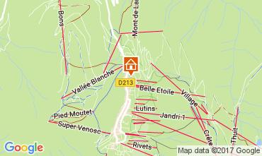 Kaart Les 2 Alpes Appartement 57671