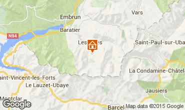 Kaart Les Orres Studio 2089