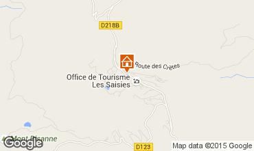 Kaart Les Saisies Appartement 29243