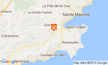 Kaart Saint Tropez Appartement 93434