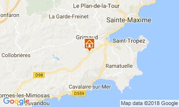 Kaart Saint Tropez Villa 64669