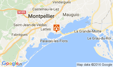 Kaart Montpellier Stacaravan 107400