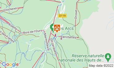 Kaart Les Arcs Studio 101487