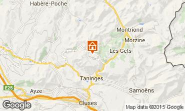 Kaart Praz de Lys Sommand Chalet 14859