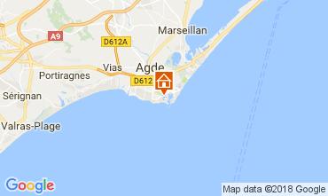 Kaart Cap d'Agde Appartement 99840