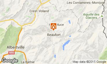 Kaart Areches Beaufort Appartement 32832