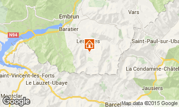 Kaart Les Orres Appartement 16957