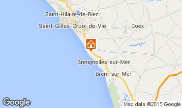 Kaart Bretignolles sur mer Huis 21946
