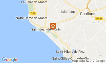 Kaart Saint Jean de Monts Stacaravan 112267